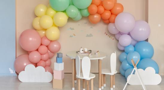 idées ballon baby shower fille